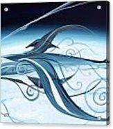 U2 Spyfish - Spy Plane As Abstract Fish - Acrylic Print