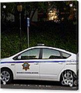 Uc Berkeley Campus Police Car  . 7d10181 Acrylic Print