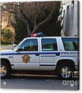 Uc Berkeley Campus Police Suv  . 7d10182 Acrylic Print