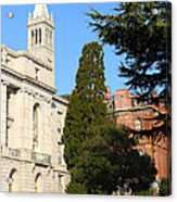 Uc Berkeley . Sather Tower Campanile . Wheeler Hall . South Hall Built 1873 . 7d10040 Acrylic Print