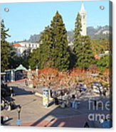 Uc Berkeley . Sproul Hall . Sproul Plaza . Sather Gate And Sather Tower Campanile . 7d10016 Acrylic Print