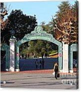 Uc Berkeley . Sproul Plaza . Sather Gate . 7d10020 Acrylic Print