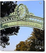 Uc Berkeley . Sproul Plaza . Sather Gate . 7d10031 Acrylic Print