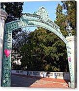 Uc Berkeley . Sproul Plaza . Sather Gate . 7d10037 Acrylic Print