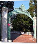 Uc Berkeley . Sproul Plaza . Sather Gate . 7d10039 Acrylic Print