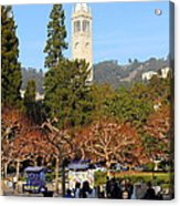 Uc Berkeley . Sproul Plaza . Sather Gate . 7d9998 Acrylic Print