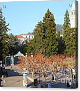 Uc Berkeley . Sproul Plaza . Sather Gate And Sather Tower Campanile . 7d10000 Acrylic Print