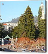 Uc Berkeley . Sproul Plaza . Sather Gate And Sather Tower Campanile . 7d10015 Acrylic Print