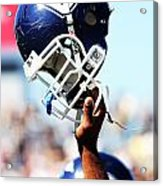 Uconn Helmet  Acrylic Print by University of Connecticut