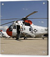Uh-3h Sea King Helicopters Based Acrylic Print