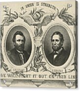 Ulyssess S Grant And Schuyler Colfax Republican Campaign Poster Acrylic Print