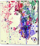 Uma Thurman Acrylic Print by Naxart Studio