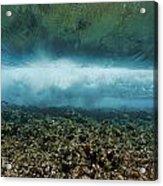 Under An Ocean Wave Acrylic Print