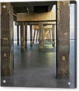 Under Dania Beach Pier Acrylic Print