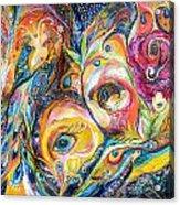 Under Olive Tree Acrylic Print by Elena Kotliarker