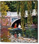 Under The Bow Bridge Central Park Acrylic Print