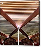 Under The Canopy Tramway Gas Station Acrylic Print