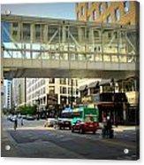 Under The Skywalk - Street Lamp Acrylic Print