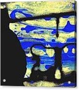 Underground - People Silhouette Serigraphic Arts Acrylic Print