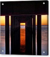Underside Of The Pier Acrylic Print by Pixel Perfect by Michael Moore