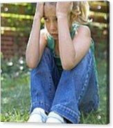 Unhappy Girl Acrylic Print