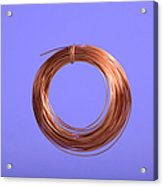 Uninsulated Copper Wire Acrylic Print