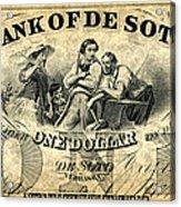 Union Banknote, 1863 Acrylic Print