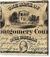 Union Banknote, 1865 Acrylic Print