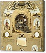 Union Certificate, 1877 Acrylic Print
