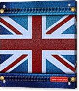 Union Jack Denim Acrylic Print