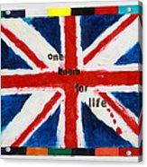 Union Jack One Team For Life Acrylic Print