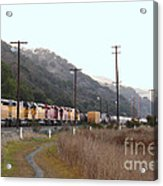 Union Pacific Locomotive Trains . 7d10558 Acrylic Print