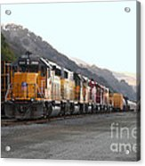 Union Pacific Locomotive Trains . 7d10561 Acrylic Print