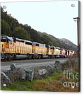 Union Pacific Locomotive Trains . 7d10564 Acrylic Print