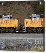 Union Pacific Locomotive Trains . 7d10573 Acrylic Print by Wingsdomain Art and Photography