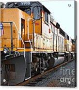 Union Pacific Locomotive Trains . 7d10588 Acrylic Print