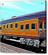 Union Pacific Observation Car In Hdr Acrylic Print