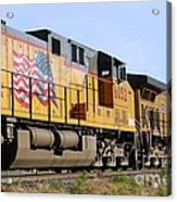Union Pacific Train Acrylic Print