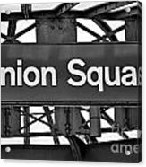 Union Square  Acrylic Print by Susan Candelario