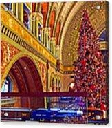 Union Station Christmas Acrylic Print