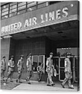 United Air Lines Uniformed Pilots Form Acrylic Print
