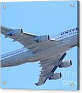 United Airlines Boeing 747 . 7d7838 Acrylic Print