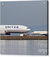United Airlines Jet Airplane At San Francisco International Airport Sfo . 7d12081 Acrylic Print