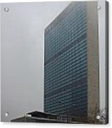 United Nations In Fog Acrylic Print