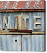 United Rusted Metal Sign Acrylic Print