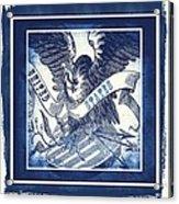 United States Blue Acrylic Print