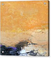 Untitled Abstract - Amber Peach  With Violet Acrylic Print