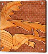 Up Against A Brick Wall Acrylic Print