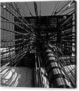 Up To The Crow's Nest - Monochrome Acrylic Print