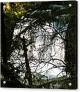 Upper Butte Creek Falls Through The Trees Acrylic Print